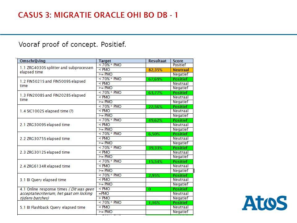 CASUS 3: MIGRATIE ORACLE OHI BO DB - 1