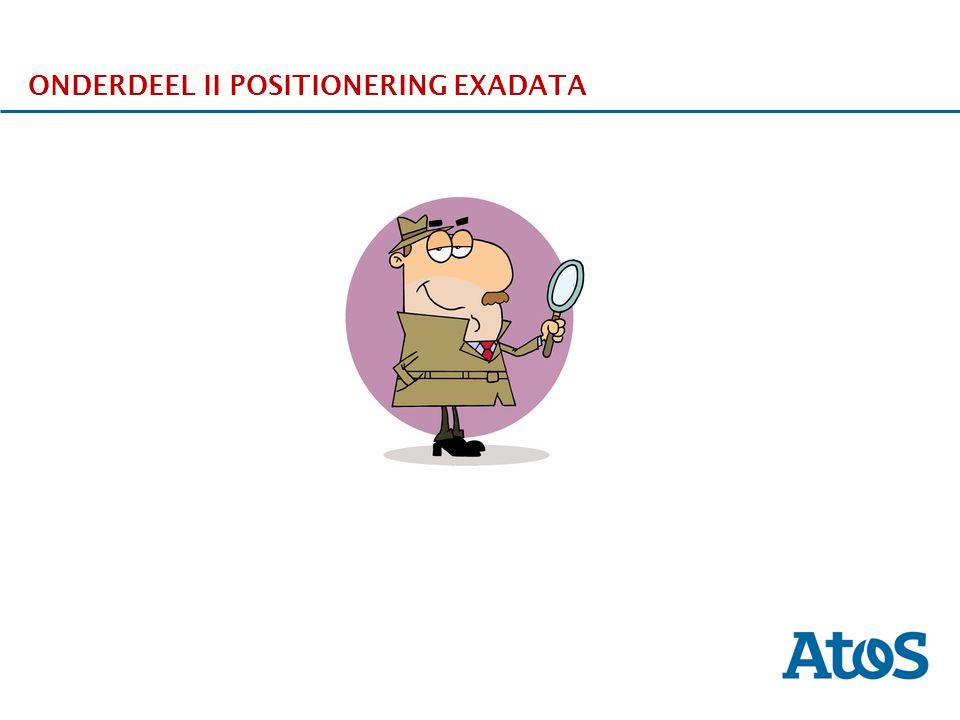 ONDERDEEL II POSITIONERING EXADATA