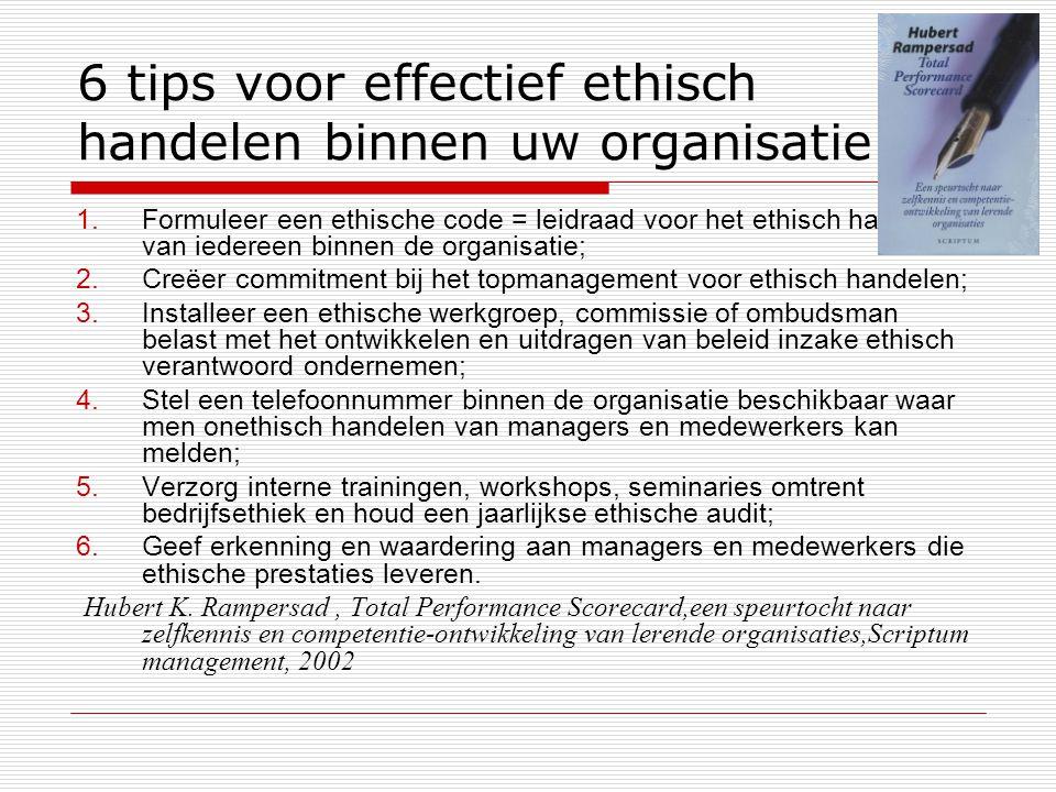 6 tips voor effectief ethisch handelen binnen uw organisatie