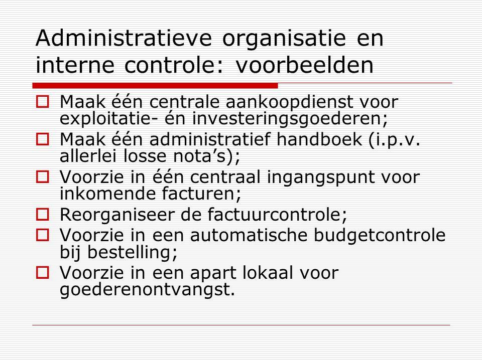 Administratieve organisatie en interne controle: voorbeelden