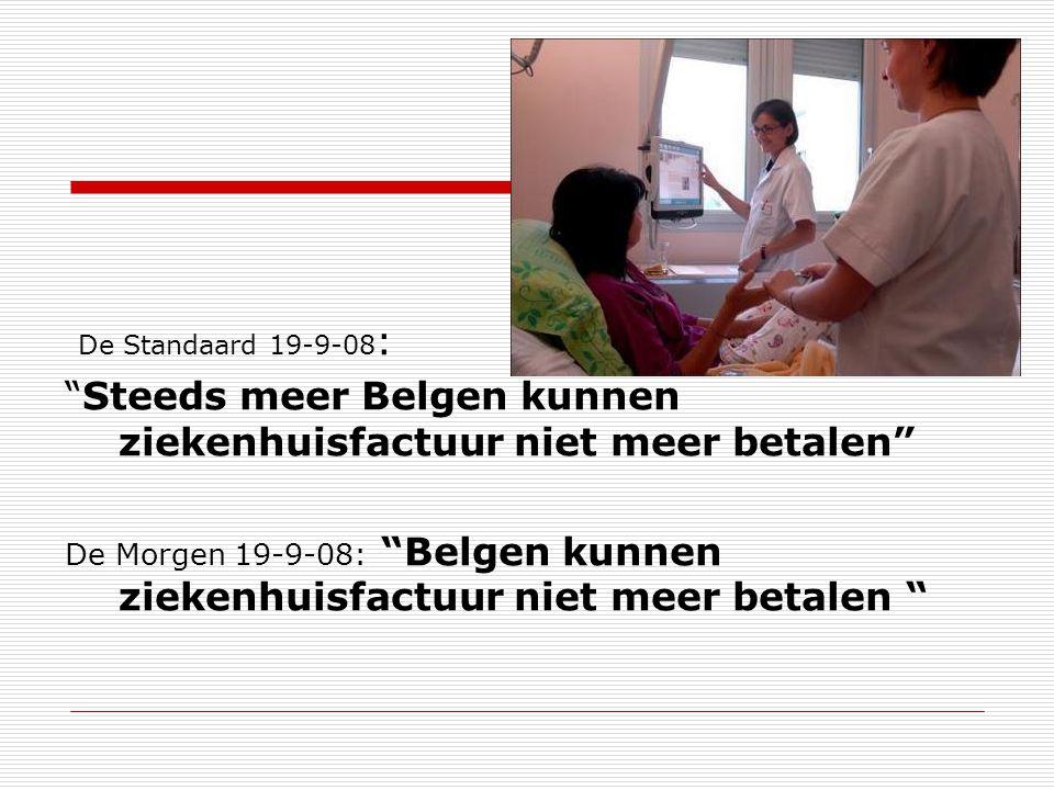 Steeds meer Belgen kunnen ziekenhuisfactuur niet meer betalen