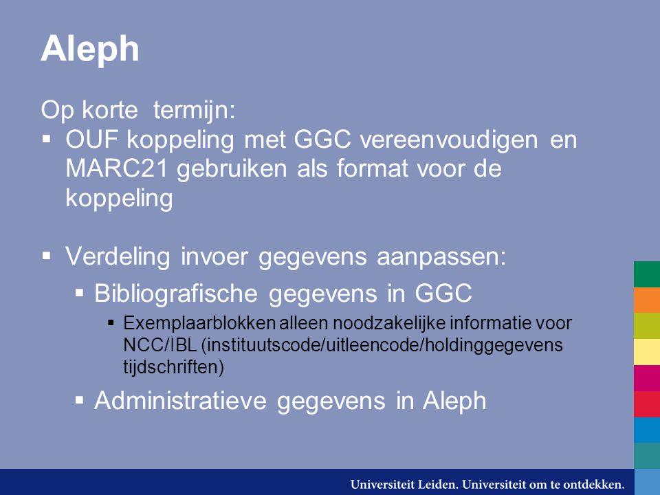 Aleph Op korte termijn: