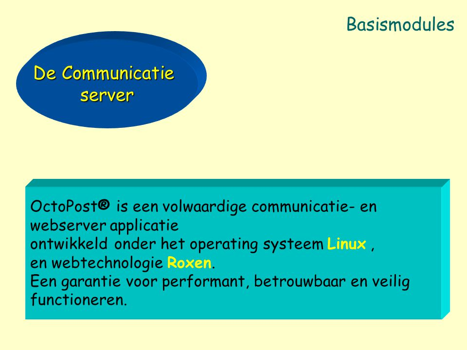 Basismodules De Communicatie server