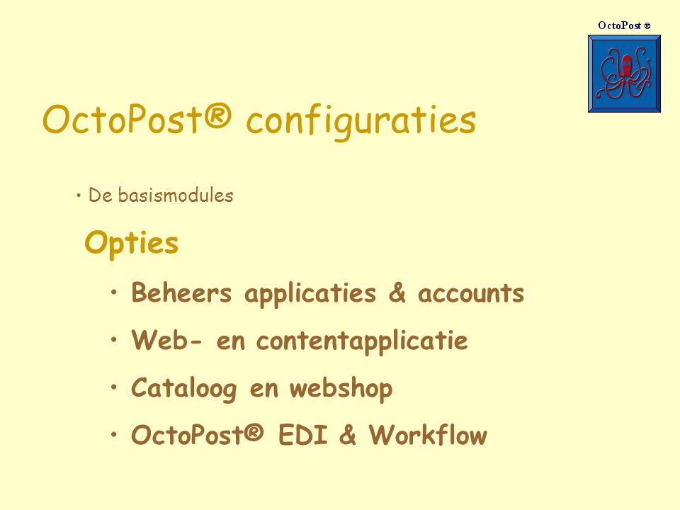 OctoPost® configuraties