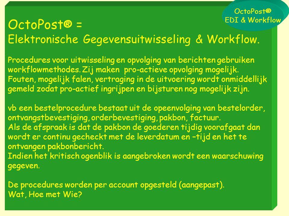 OctoPost® = Elektronische Gegevensuitwisseling & Workflow.