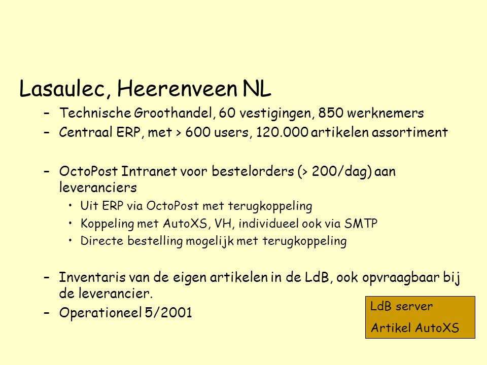 Lasaulec, Heerenveen NL
