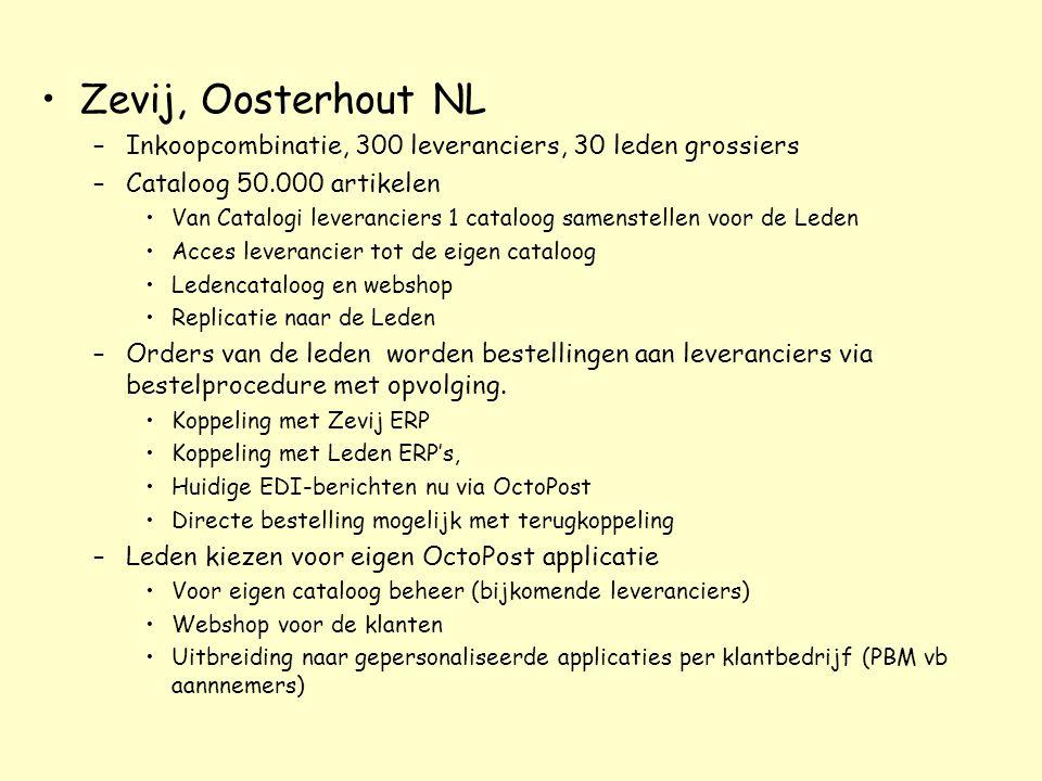 Zevij, Oosterhout NL Inkoopcombinatie, 300 leveranciers, 30 leden grossiers. Cataloog 50.000 artikelen.
