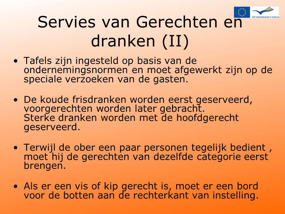 Servies van Gerechten en dranken (II)