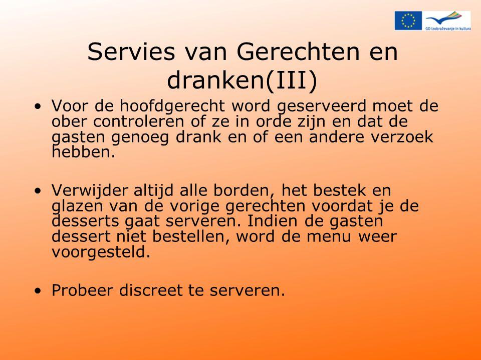Servies van Gerechten en dranken(III)