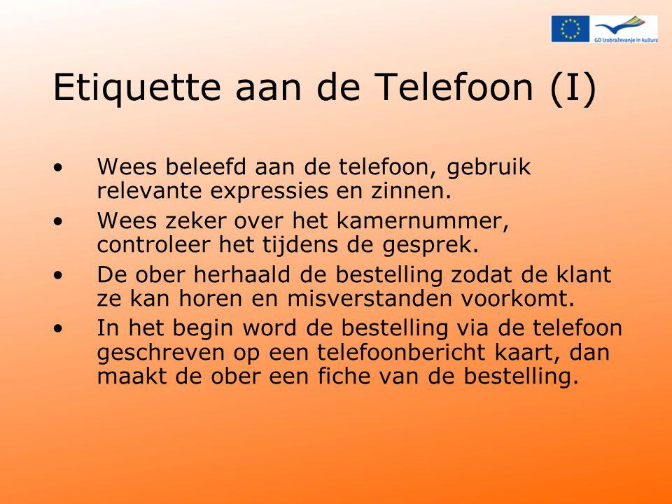 Etiquette aan de Telefoon (I)
