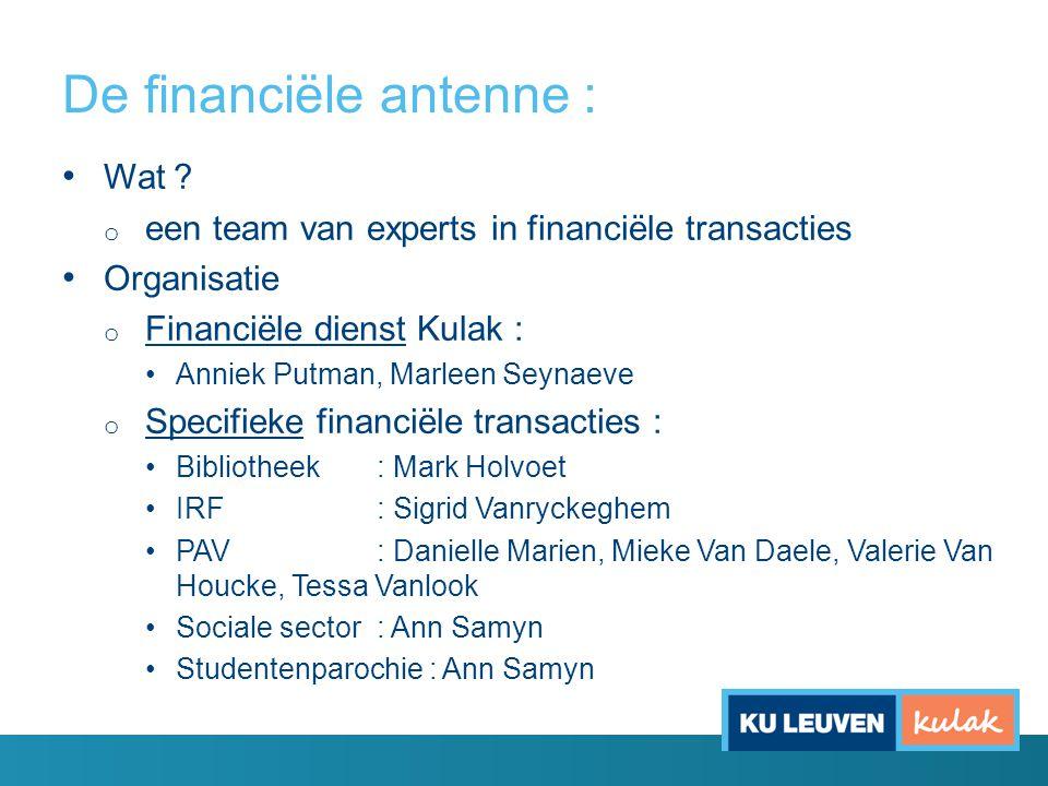 De financiële antenne :