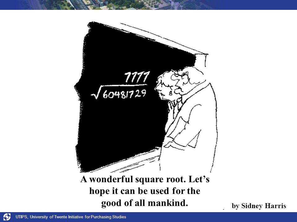 A wonderful square root. Let's hope it can be used for the