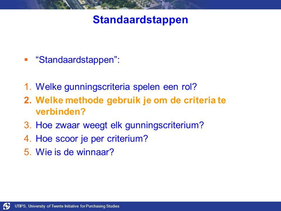 Standaardstappen Standaardstappen :