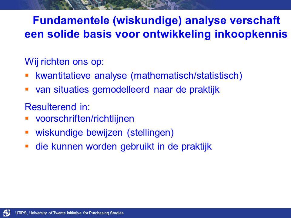 Fundamentele (wiskundige) analyse verschaft een solide basis voor ontwikkeling inkoopkennis