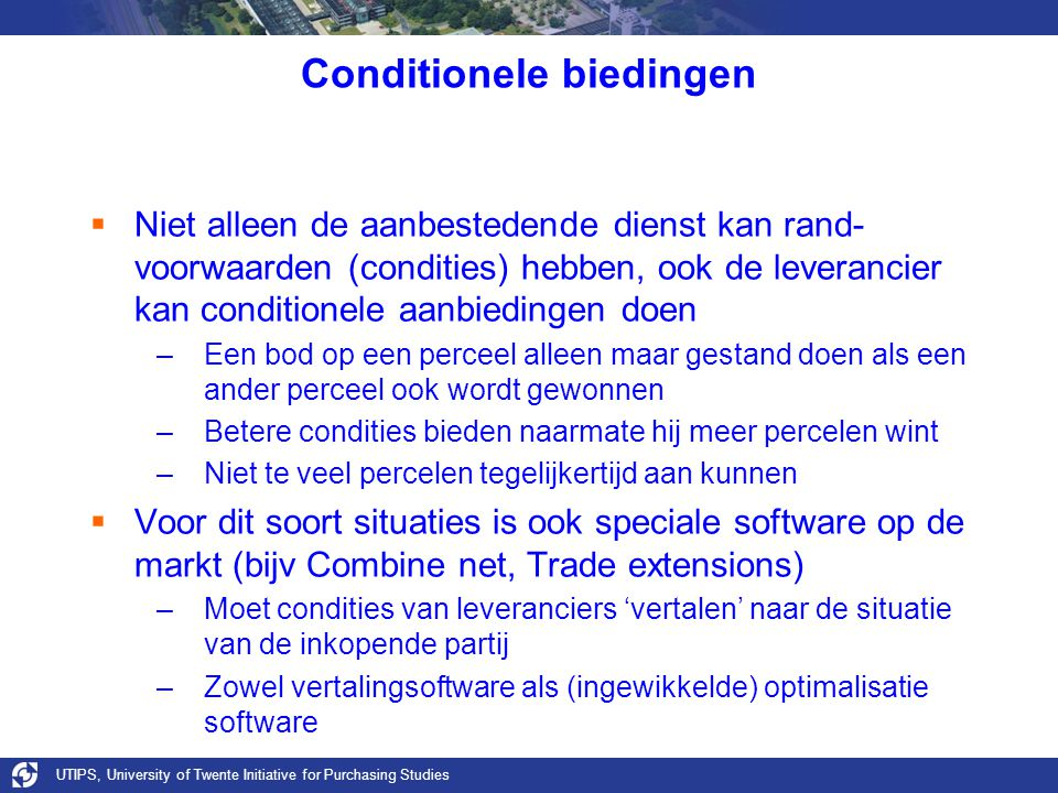 Conditionele biedingen