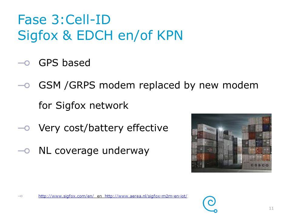 Fase 3:Cell-ID Sigfox & EDCH en/of KPN