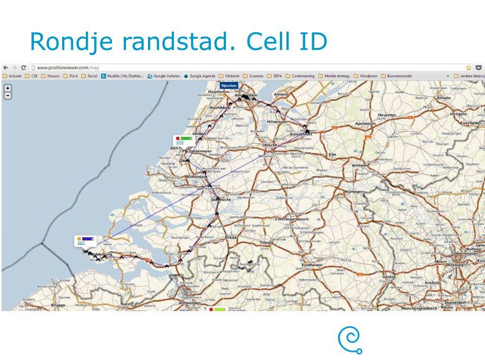 Rondje randstad. Cell ID