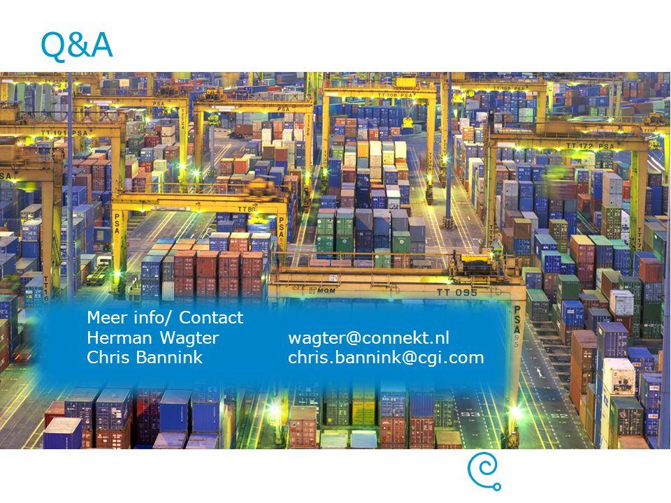 Q&A Meer info/ Contact Herman Wagter wagter@connekt.nl
