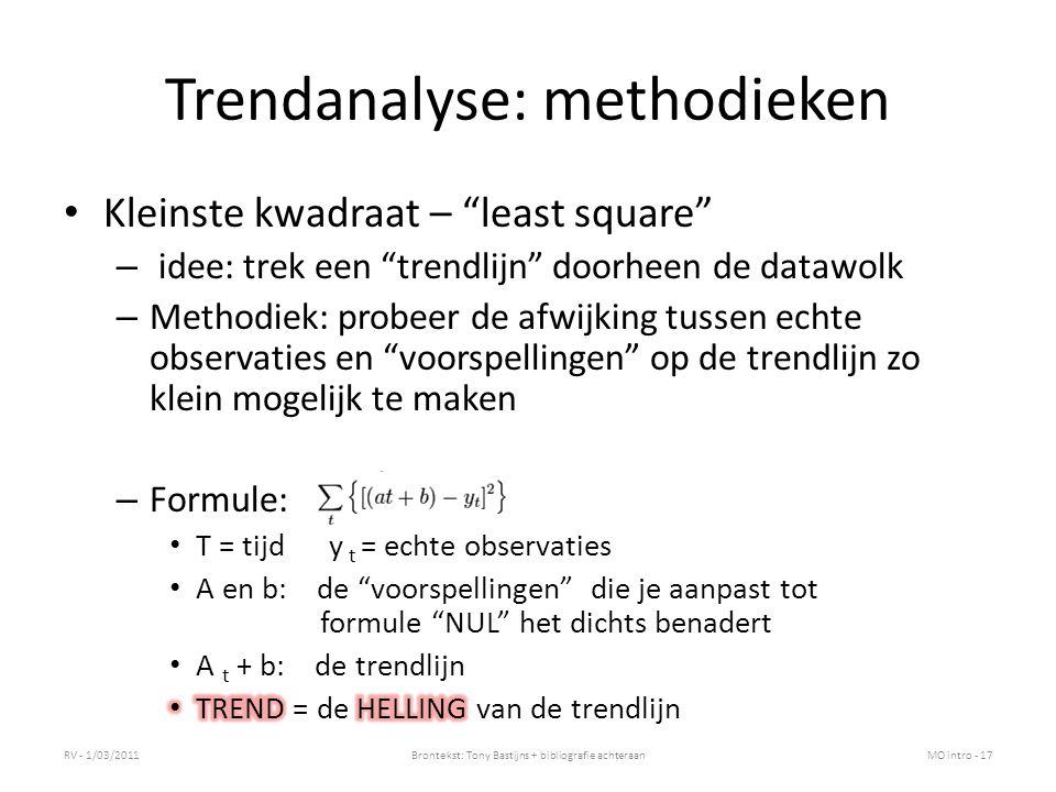 Trendanalyse: methodieken