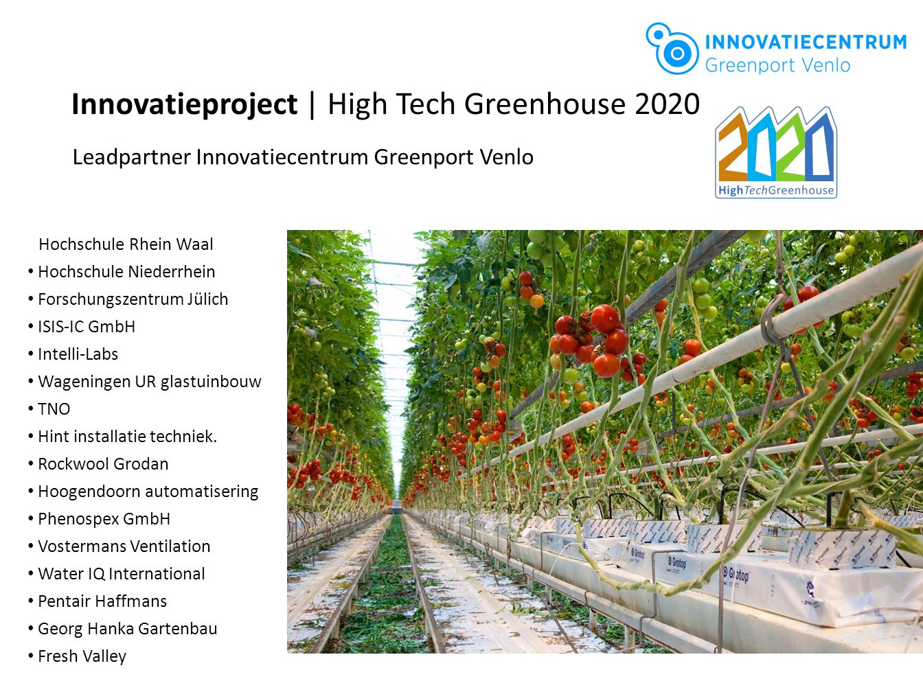 Innovatieproject | High Tech Greenhouse 2020
