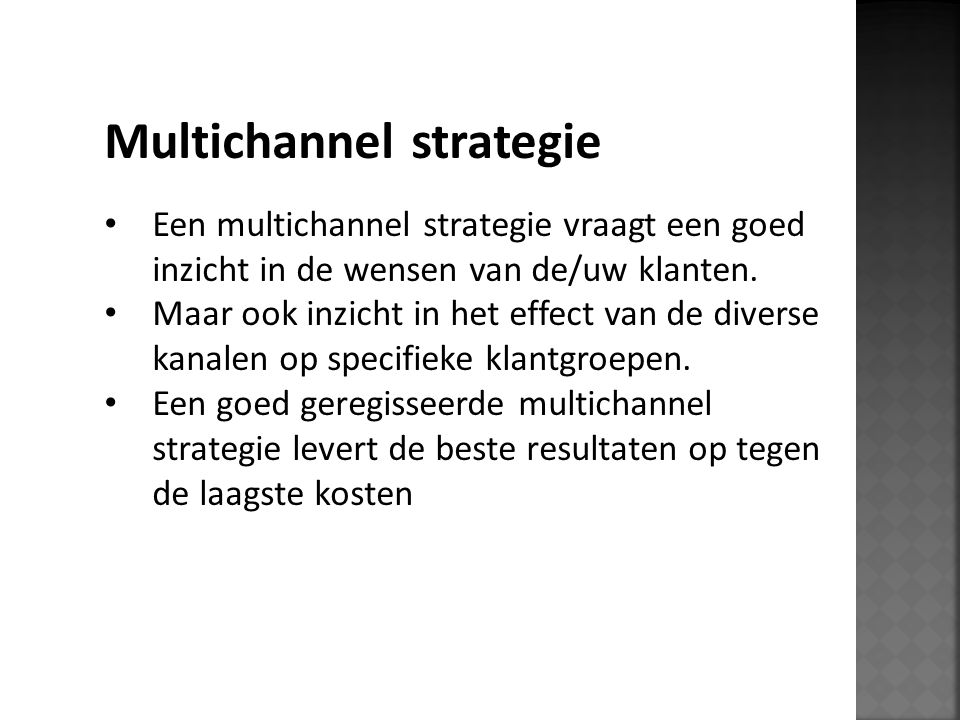 Multichannel strategie