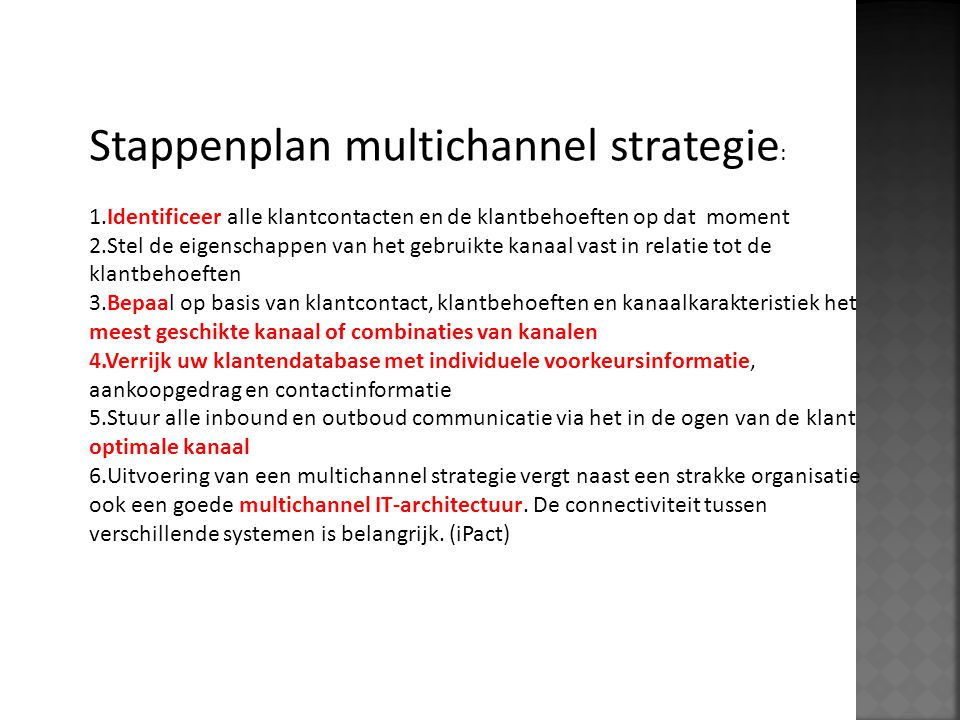 Stappenplan multichannel strategie: