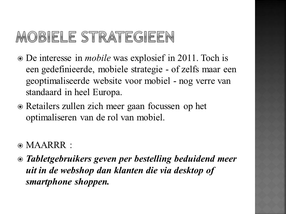 MOBIELE STRATEGIEEN
