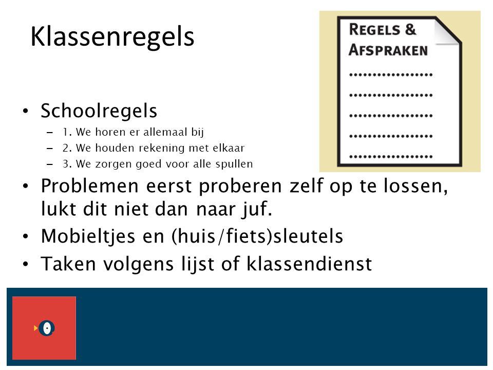 Klassenregels Schoolregels