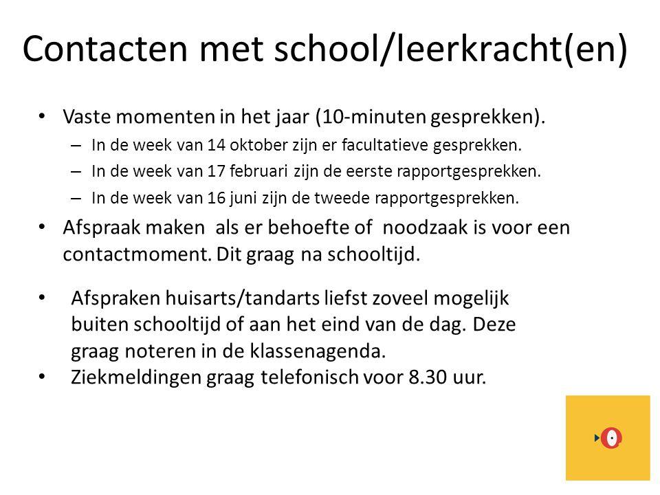 Contacten met school/leerkracht(en)