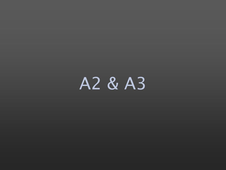 A2 & A3