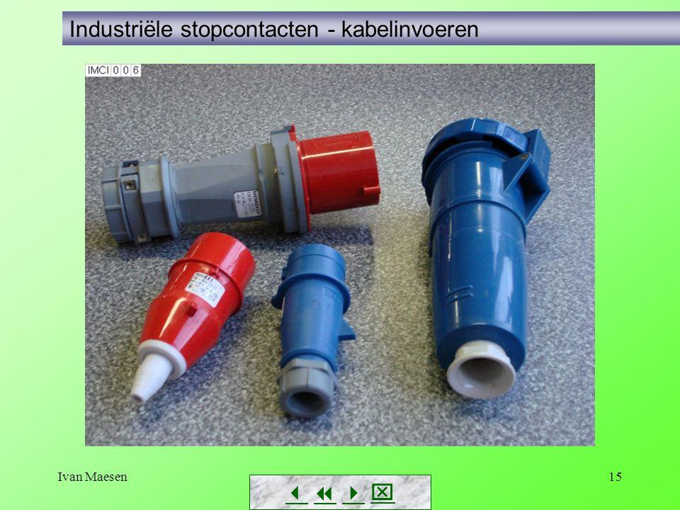 Industriële stopcontacten - kabelinvoeren