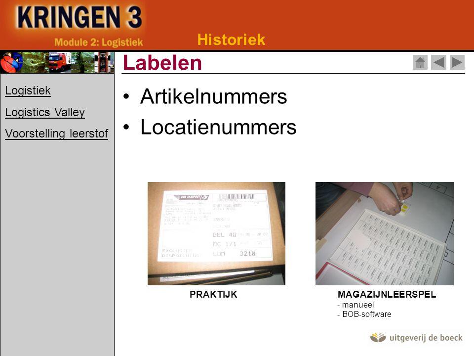 Labelen Artikelnummers Locatienummers Historiek Logistiek