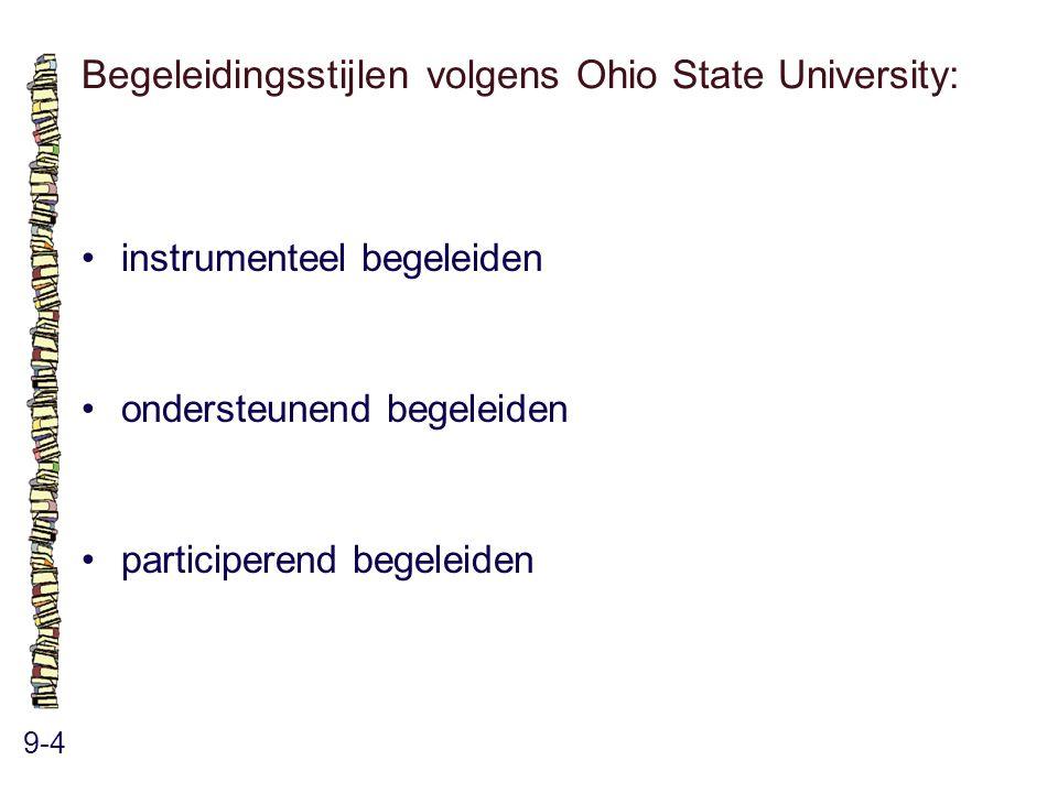 Begeleidingsstijlen volgens Ohio State University: