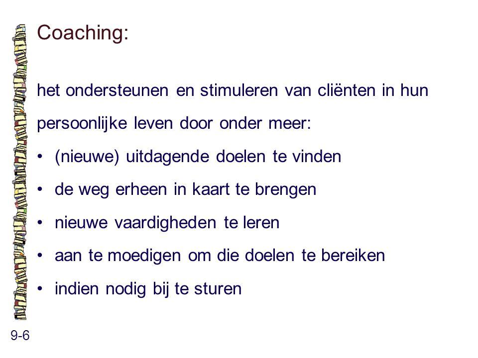 Coaching: het ondersteunen en stimuleren van cliënten in hun