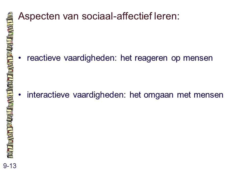 Aspecten van sociaal-affectief leren: