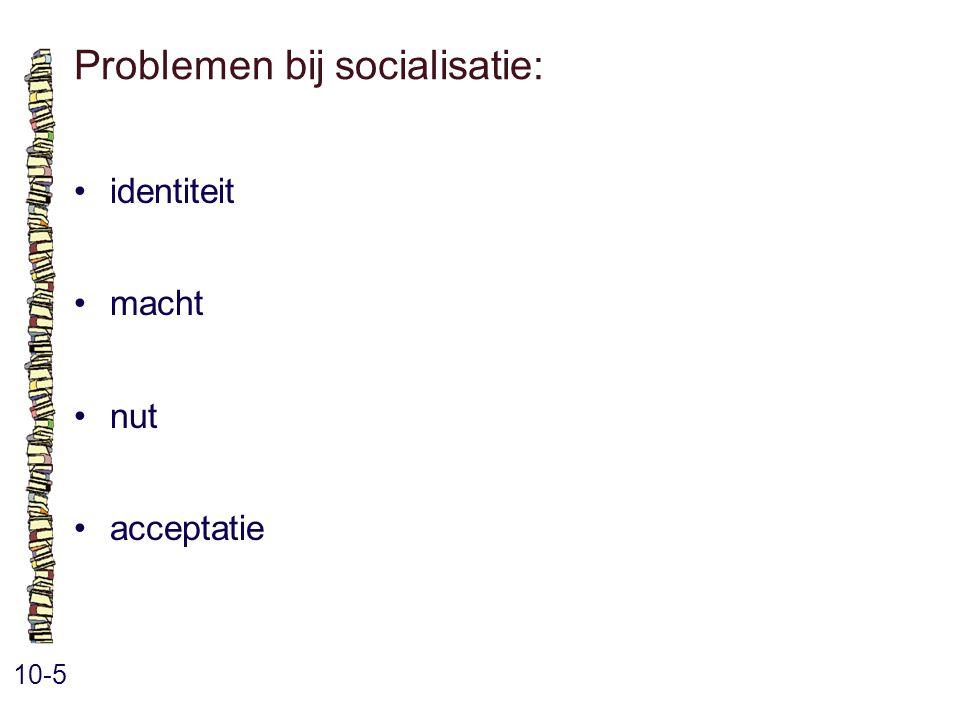Problemen bij socialisatie: