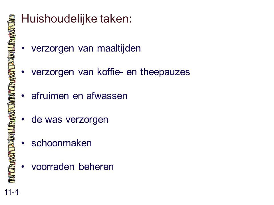 Huishoudelijke taken: