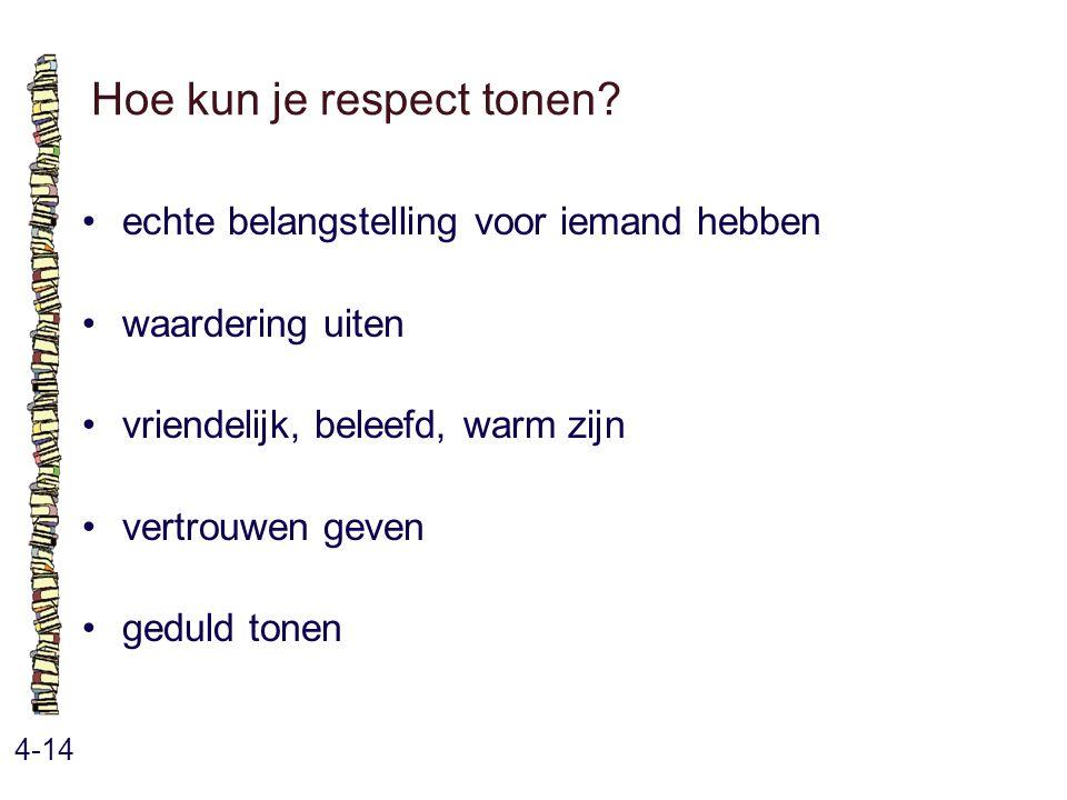 Hoe kun je respect tonen