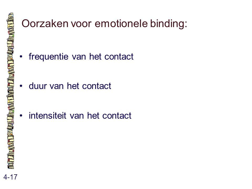 Oorzaken voor emotionele binding: