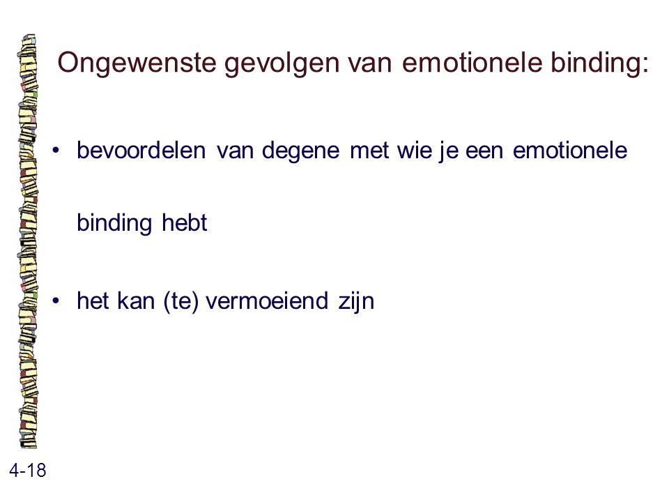Ongewenste gevolgen van emotionele binding: