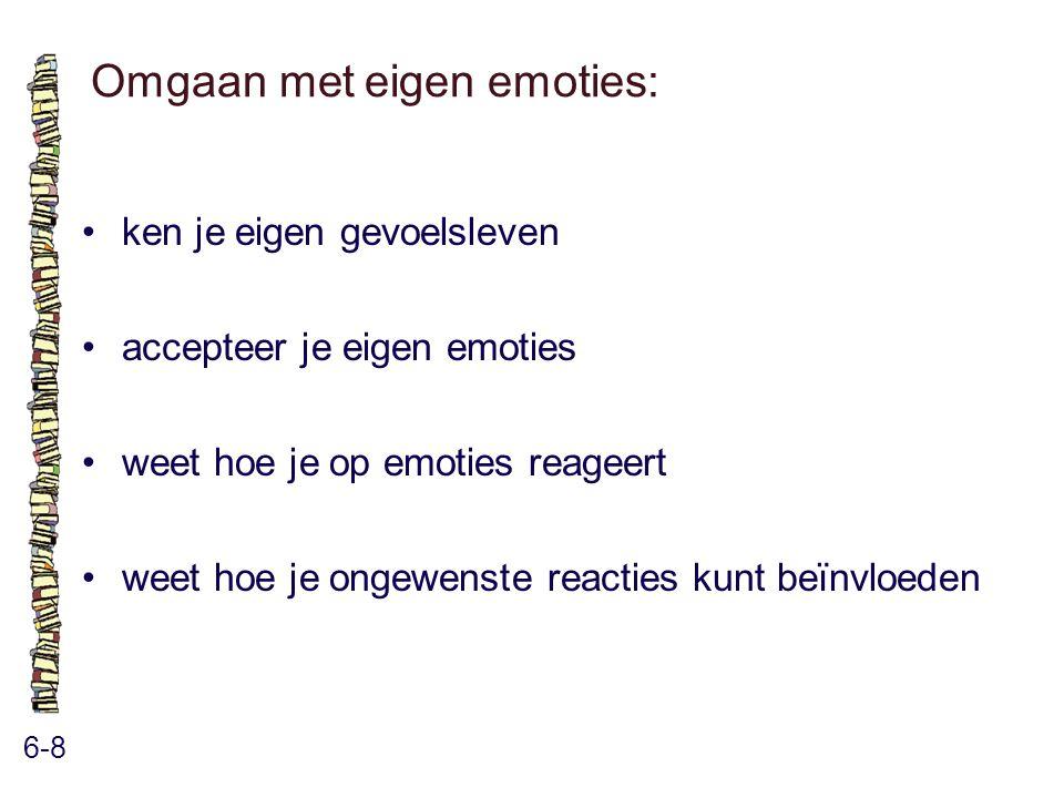 Omgaan met eigen emoties: