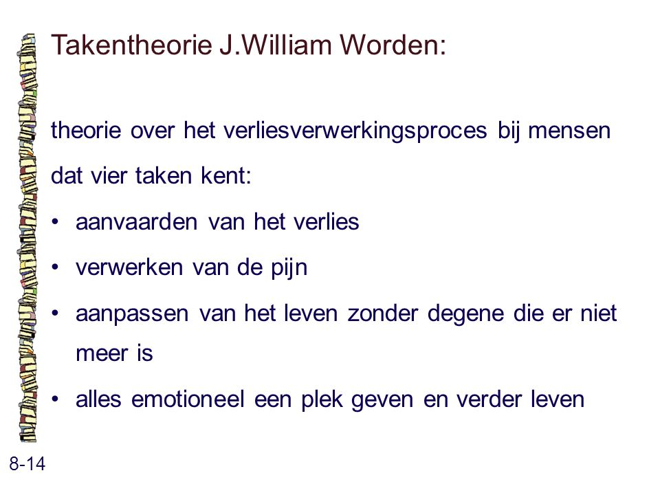 Takentheorie J.William Worden: