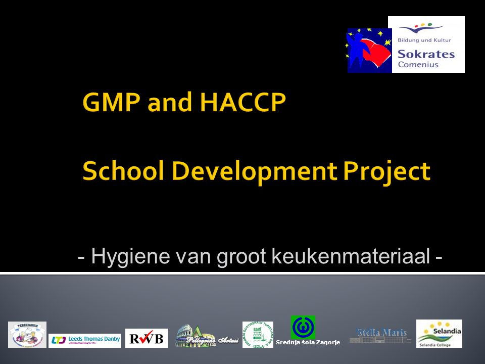 GMP and HACCP School Development Project
