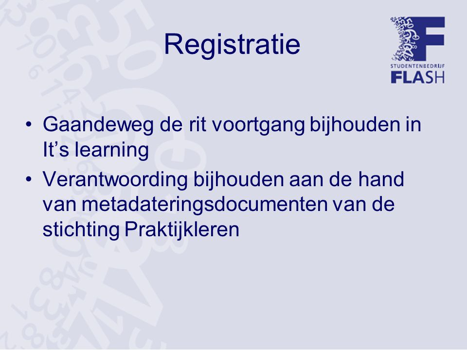 Registratie Gaandeweg de rit voortgang bijhouden in It's learning