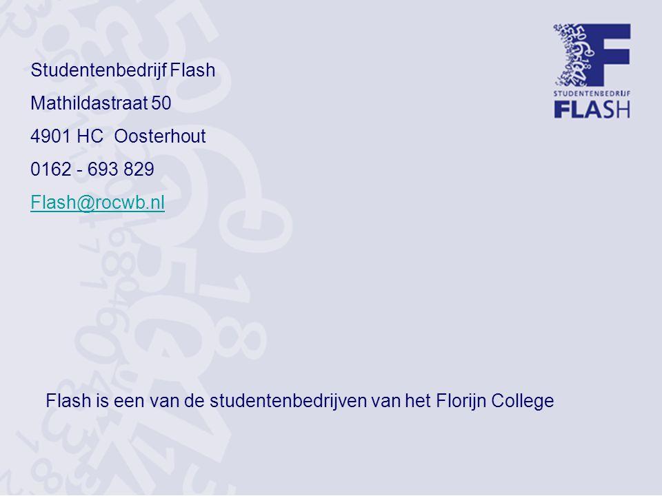 Flash is een van de studentenbedrijven van het Florijn College
