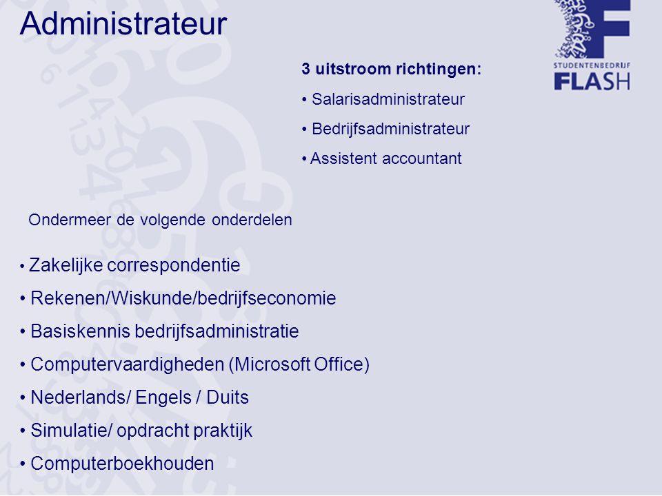 Administrateur Rekenen/Wiskunde/bedrijfseconomie