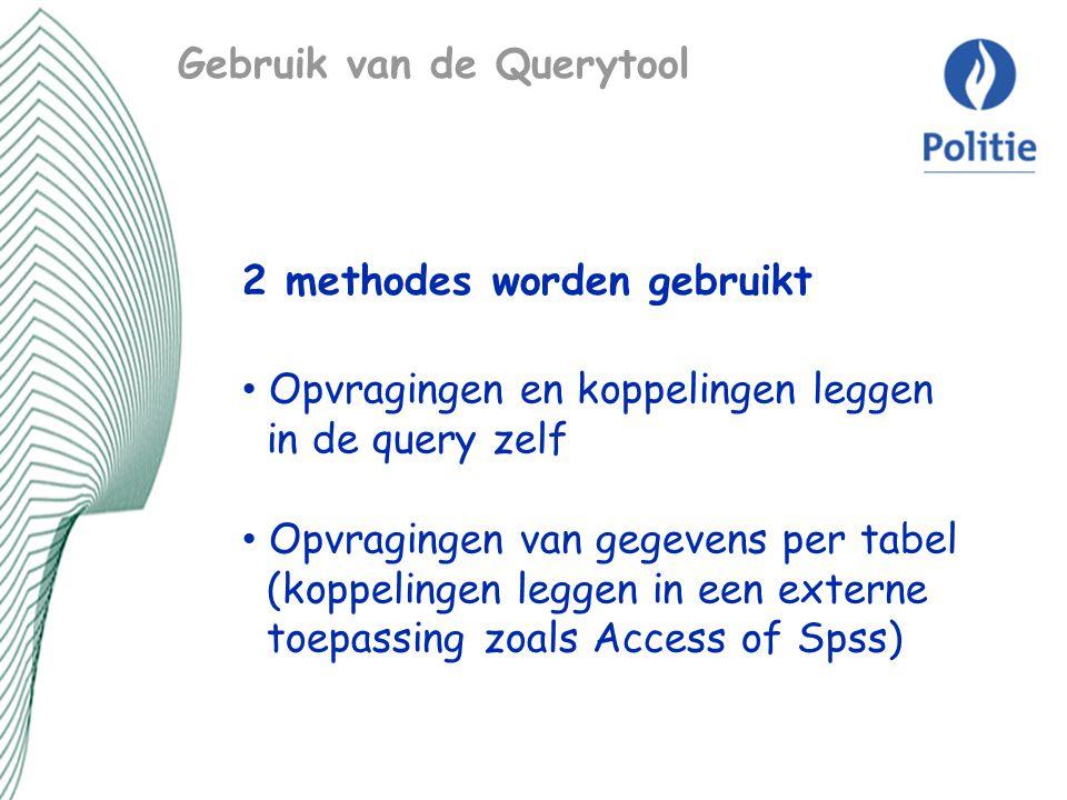 Gebruik van de Querytool
