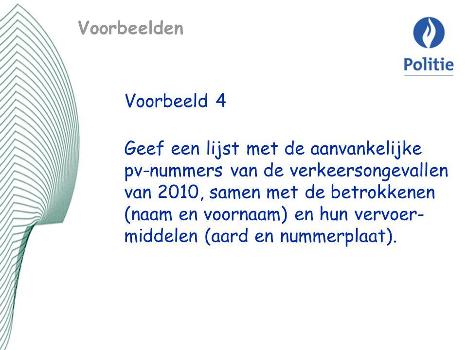 Voorbeelden Voorbeeld 4.