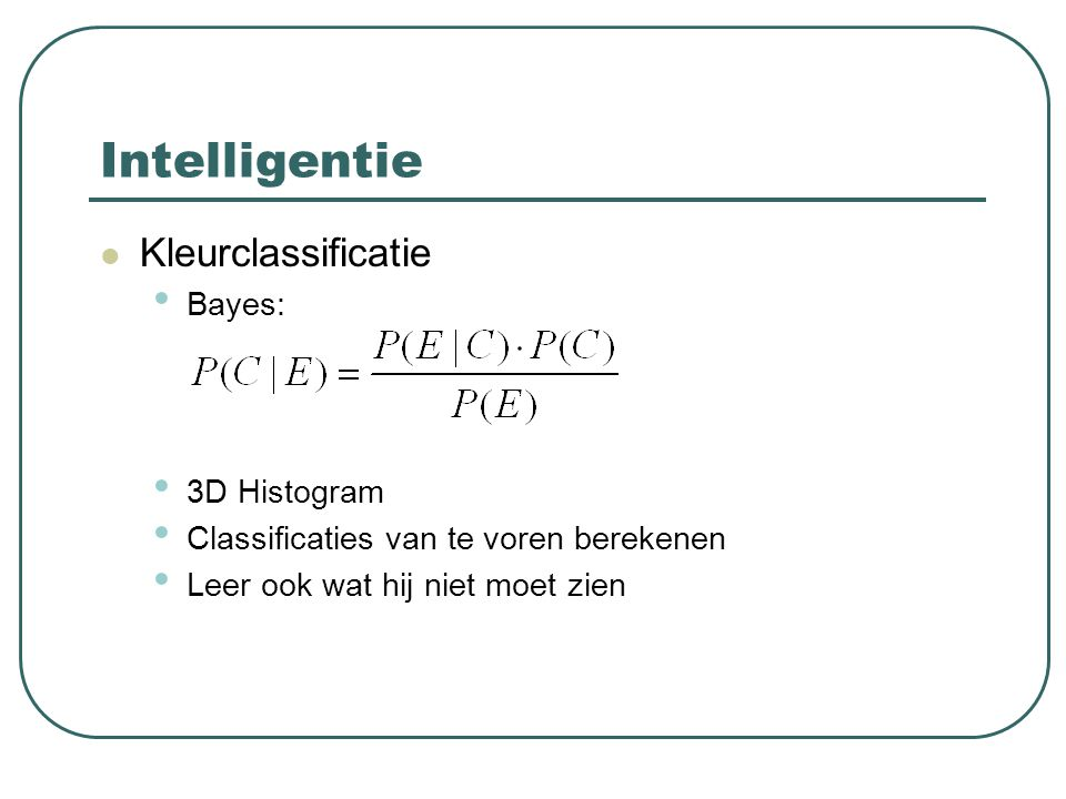 Intelligentie Kleurclassificatie Bayes: 3D Histogram