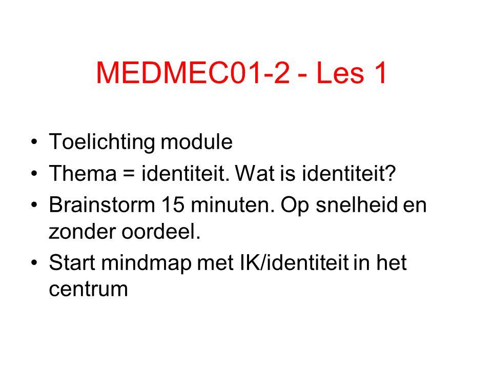 MEDMEC01-2 - Les 1 Toelichting module